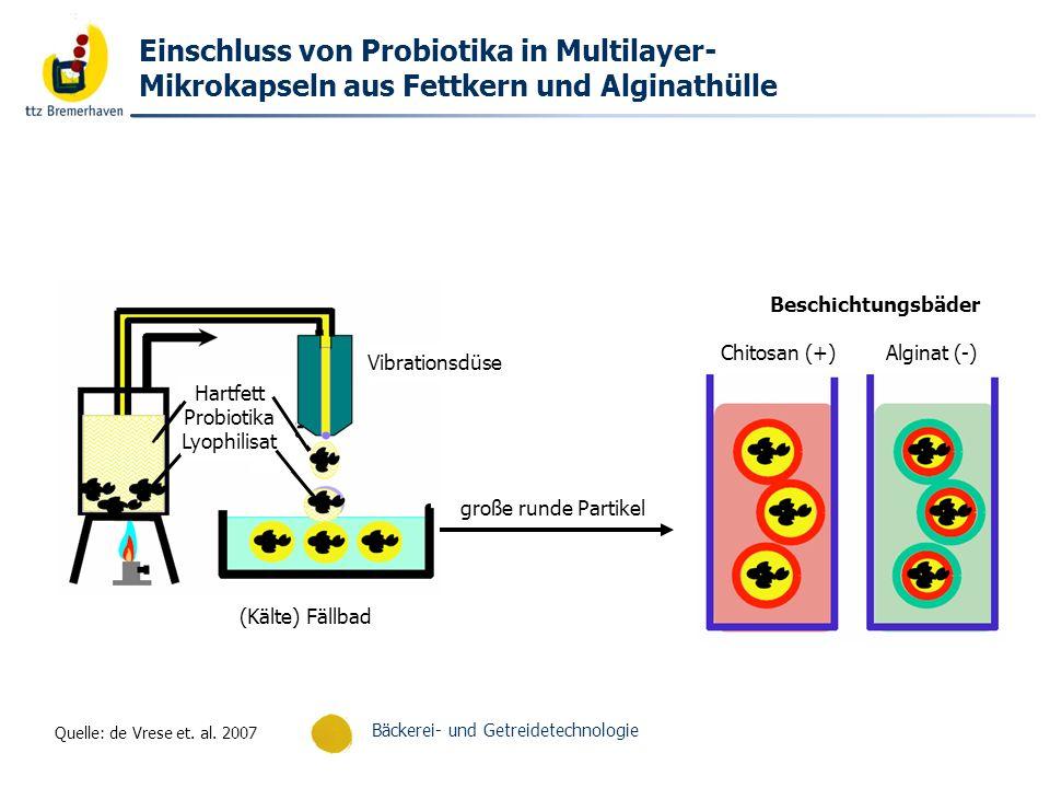 Bäckerei- und Getreidetechnologie Untersuchung eines mehrschichtigen Kapselaufbaus durch Messung der Oberflächenladung der Partikel Quelle: de Vrese et.