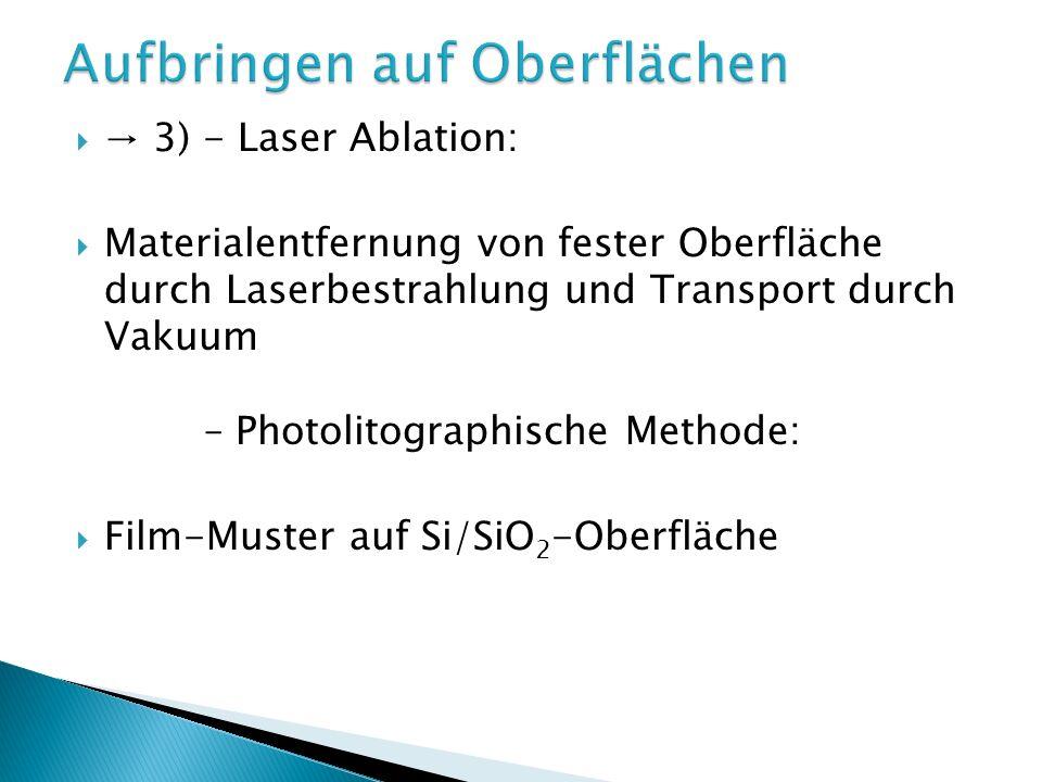 4) Einbau in dünne Nanokompositfilme: 2 Schritte: Polymer/Cluster-Lsg.