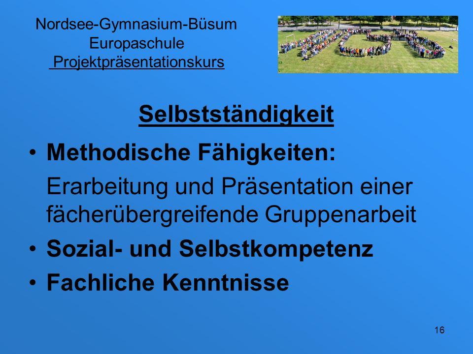 Nordsee-Gymnasium-Büsum Europaschule Projektpräsentationskurs Vorläufiger Zeitplan: Nach Weihnachten: Einführung Themenwahl Gruppenbildung Konzept 17