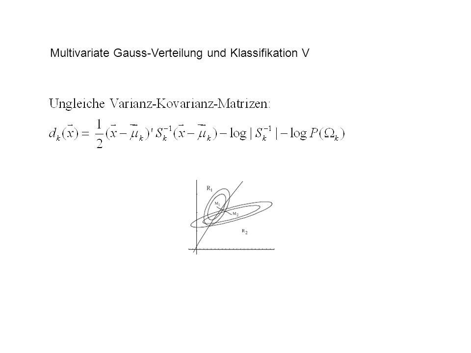 Multivariate Gauss-Verteilung und Klassifikation VI