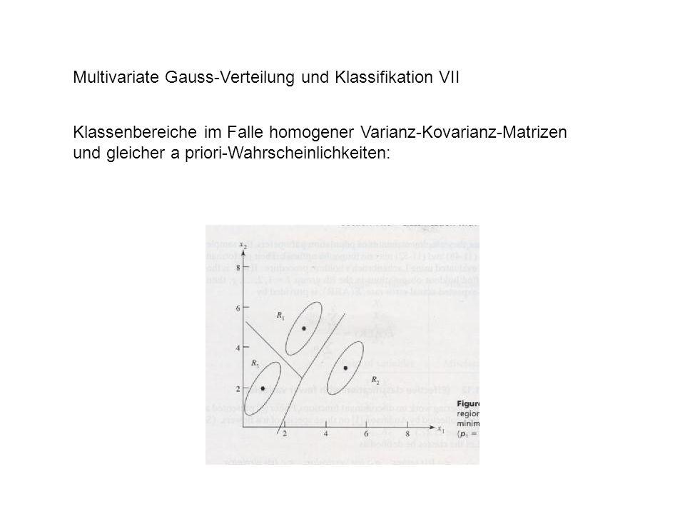 Multivariate Gauss-Verteilung und Klassifikation VII Statistische Tests: