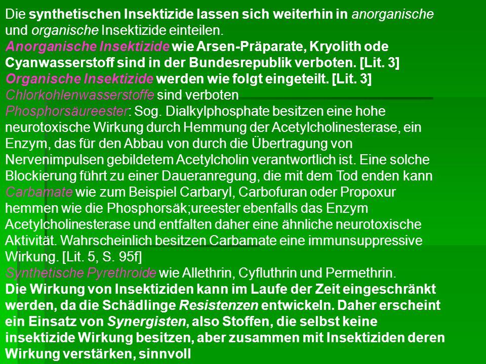 Unter Herbiziden [zu lat.