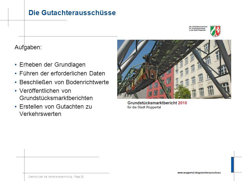 Überblick über die Verkehrswertermittlung | Page 30 Die Entstehung von Bodenrichtwerten etc.