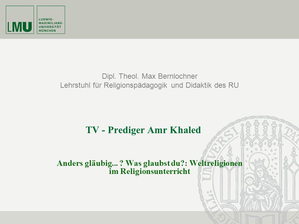 2 Marina Grotz; Andreas Müller Biographie – Amr Khaled Amr Mohamed Helmi Khaled *5.