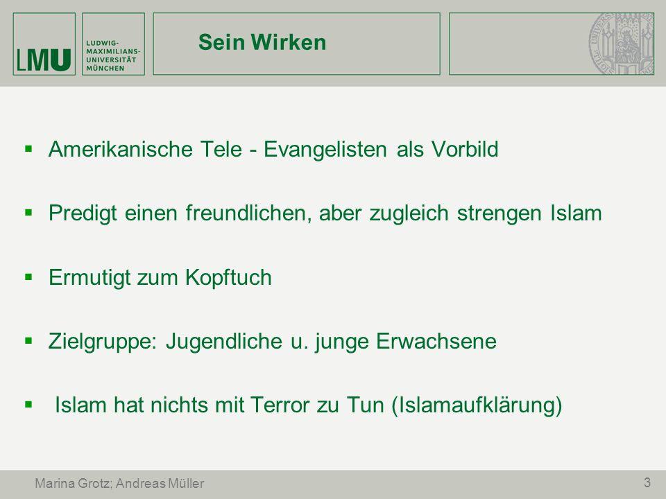 4 Marina Grotz; Andreas Müller Mittel und Inhalte Mittel: - einfache, verständliche Sprache - Mischung aus Unterricht, Gebet und Familienpicknick - Moderate Vermittlung (keine Belehrung.