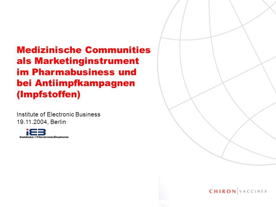 2 Medizinische Communities als Marketinginstrument im Pharmabusiness Agenda Pharmabusiness Patienten und Internet Medizinische Communities Elemente medizinischer Communities Was können medizinische Communities bewirken Beispiel Impfen