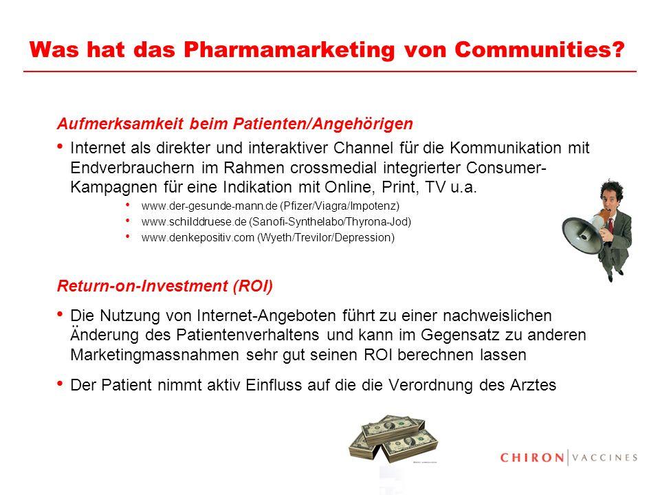 20 Was hat das Pharmamarketing von Communities.