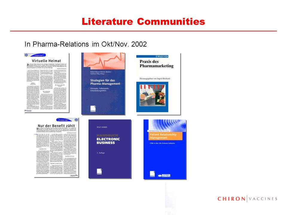 81 Literature European Physicians and the Internet - The Boston Consulting Group, März 2003 Vital Signs: e-Health in the United States - The Boston Consulting Group, Januar 2003 Vital Signs Update: Doctors Say e-Health Delivers - The Boston Consulting Group, September 2001 Vital Signs Update: The e-Health Patient Paradox - The Boston Consulting Group, April 2001 Big Pharma Can Still Find Big Value in e-Health - The Boston Consulting Group, März 2001 Vital Signs: The Impact of e-Health on Patients and Physicians - The Boston Consulting Group, Februar 2001 Patients, physicians, and the internet - Myth, reality, and implications - Boston Consulting Group, Jan 2001 Beyond 2005 - The future of Pharmaceutical Marketing and Sales - Cap Gemini/Ernst & Young, Sept 2002 Patient Relationship Management - Die Rolle des Patienten in der Life-Science-Industrie - Cap Gemini/Ernst & Young, Februar 2001 Cracking the Code - Unlocking New Value in Customer Relationships - Cap Gemini, Ernst Young 2002 Health Care s 2003 Top 10 Business Issues and Impacts: A Cap Gemini Ernst & Young Forecast - Cap Gemini/Ernst & Young, 2003 Balancing for Success 2003: The Top Issues Facing the Managed Health Care Industry - Cap Gemini/Ernst & Young, 2003 The Quantum Shuffle - The impact of e on the pharmaceutical and medical device industries - Cap Gemini/Ernst & Young, 2001 Drug Mail Order - Can the US Model be transferred to Germany.