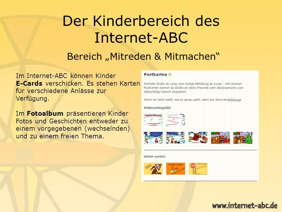 Der Erwachsenenbereich des Internet-ABC Der Erwachsenenbereich gibt Eltern u.