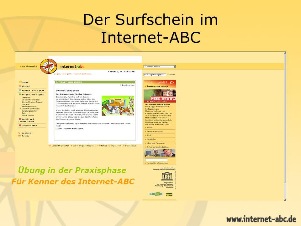 Der Erwachsenenbereich des Internet-ABC Bereich Unterrichten.
