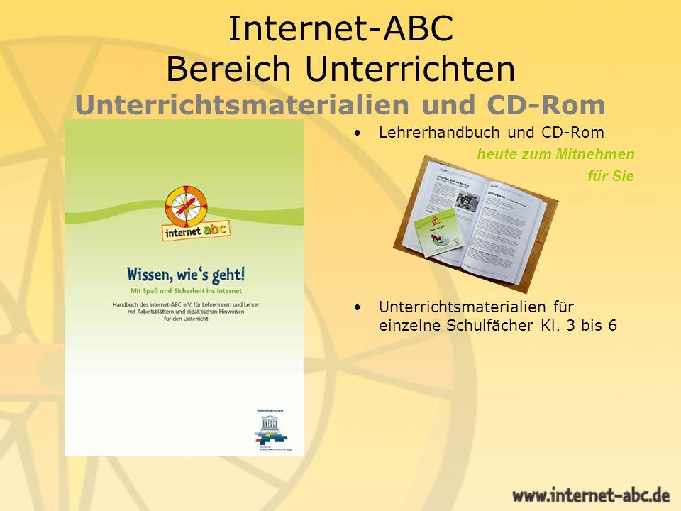 Internet-ABC Bereich Unterrichten Unterrichtsmaterialien Fächerübergreifende Unterrichtseinheiten - mit Kurzfassungen für Vertretungs- stunden - als Download neu erstellt von Lehrer Online für das Internet-ABC.