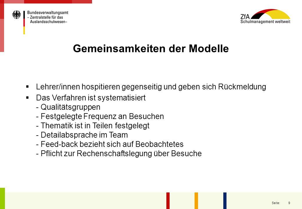 10 Seite: Unterschiede bei den Modellen QES aus Bern ist ein Meta-Modell, das unterschiedliche Zugänge ermöglicht.
