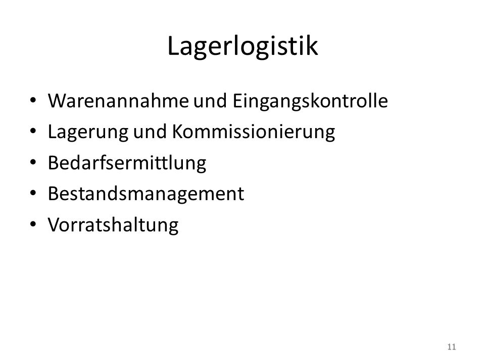 Lagerlogistik 12