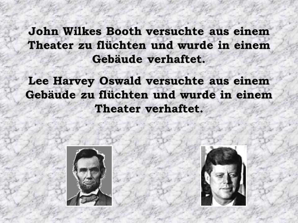 John Wilkes Booth versuchte aus einem Theater zu flüchten und wurde in einem Gebäude verhaftet.