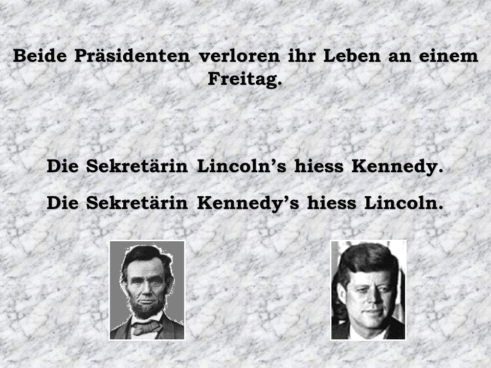 Beide Präsidenten verloren ihr Leben an einem Freitag.