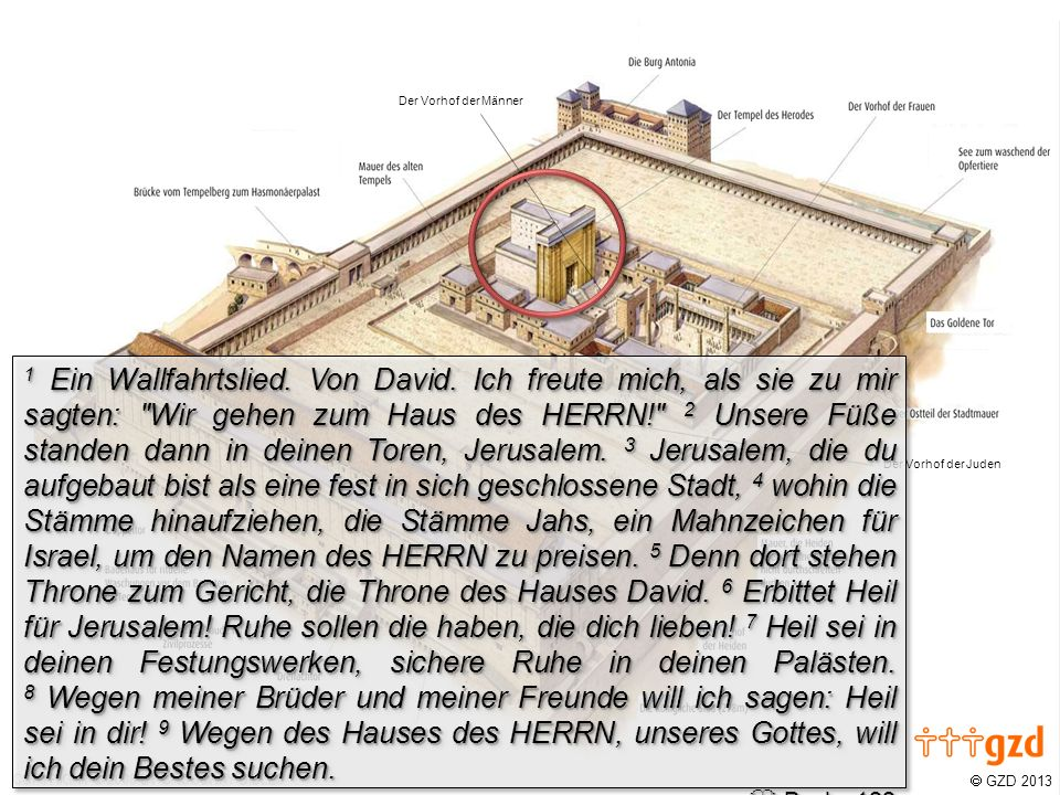 GZD 2013 Der Vorhof der Juden Der Vorhof der Männer