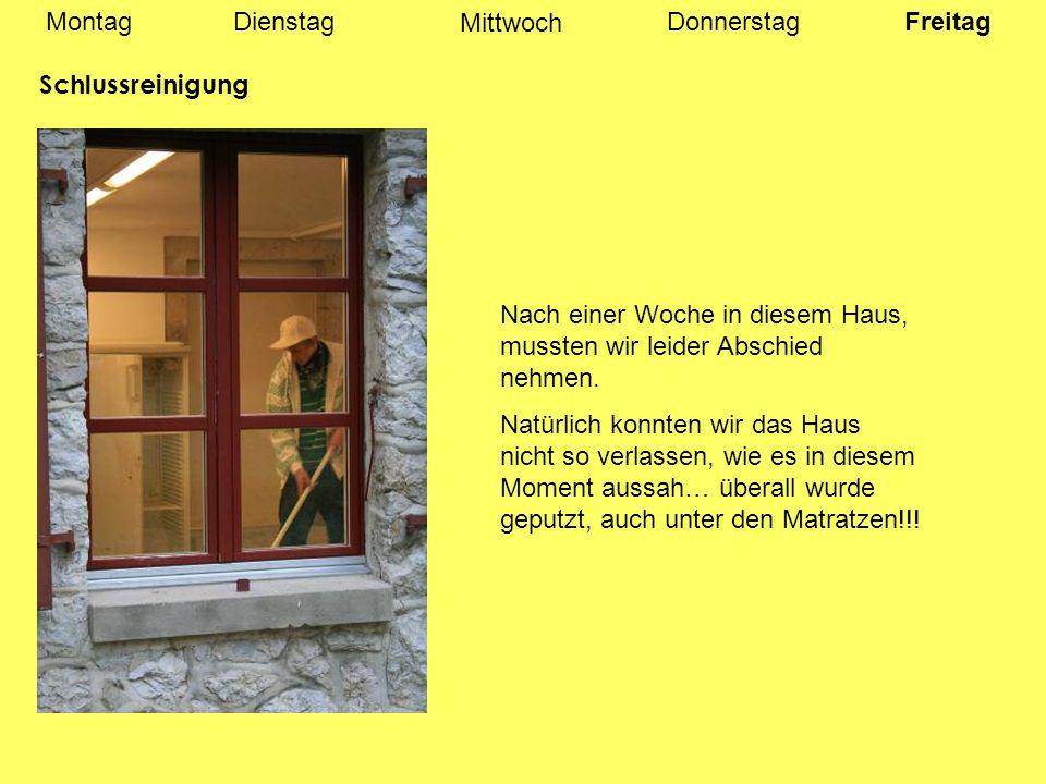 MontagDienstagDonnerstag Mittwoch Freitag Neuchâtel Am Mittag führten uns zwei Mitschüler durch Neuchâtel.