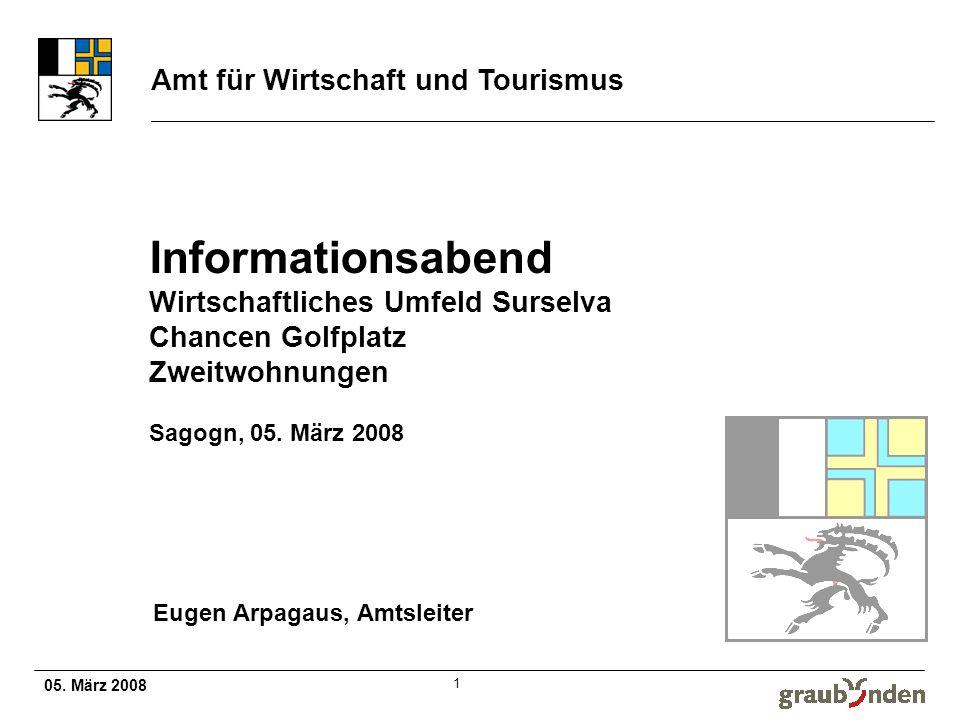 05. März 2008 Amt für Wirtschaft und Tourismus 2 Wirtschaftliches Umfeld