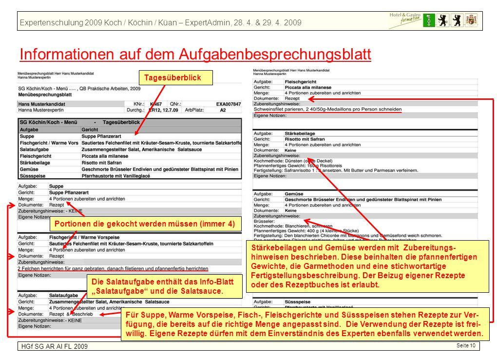 Expertenschulung 2009 Koch / Köchin / Küan – ExpertAdmin, 28.
