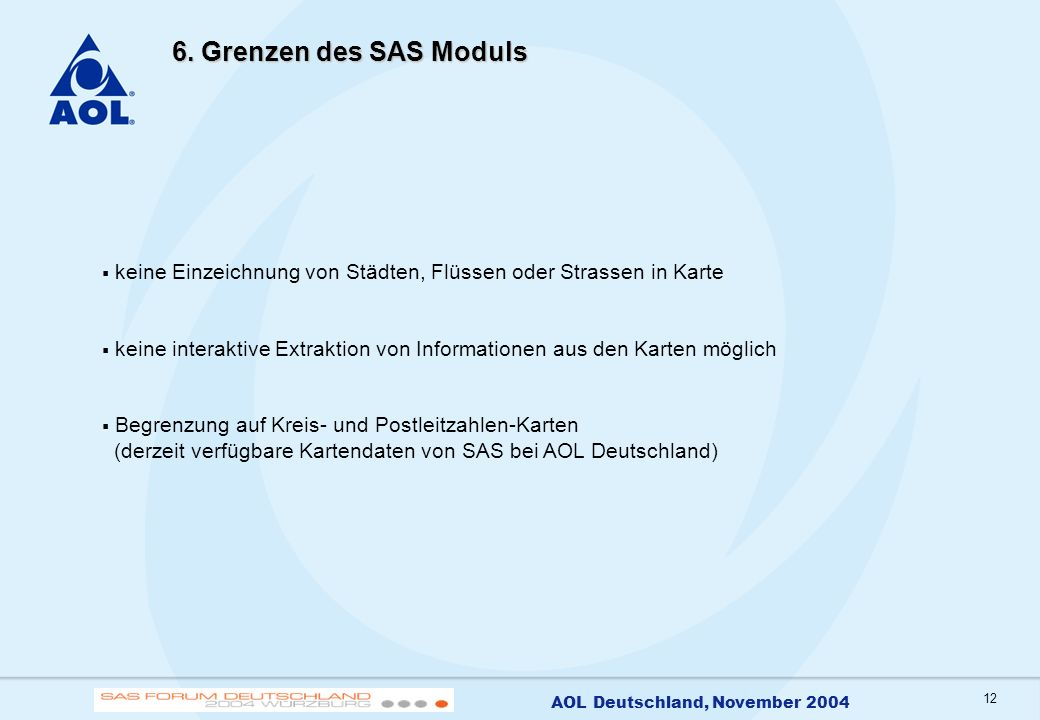 13 AOL Deutschland, November 2004 7.