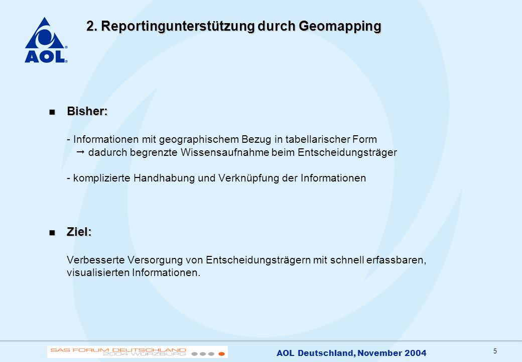 6 AOL Deutschland, November 2004 3.