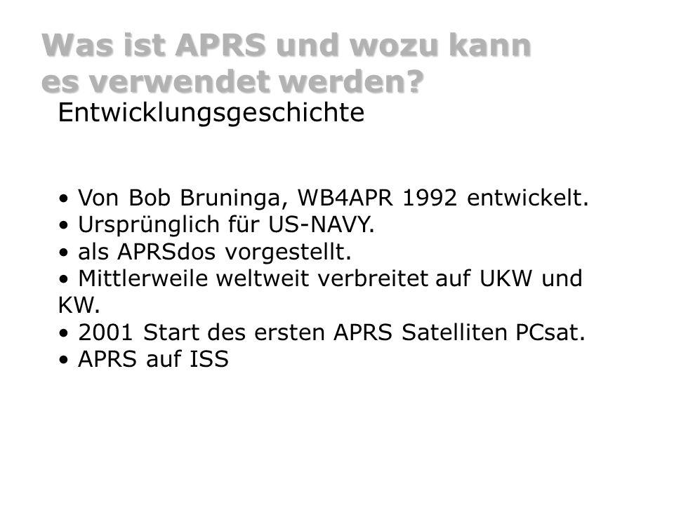 Was ist APRS und wozu kann es verwendet werden.