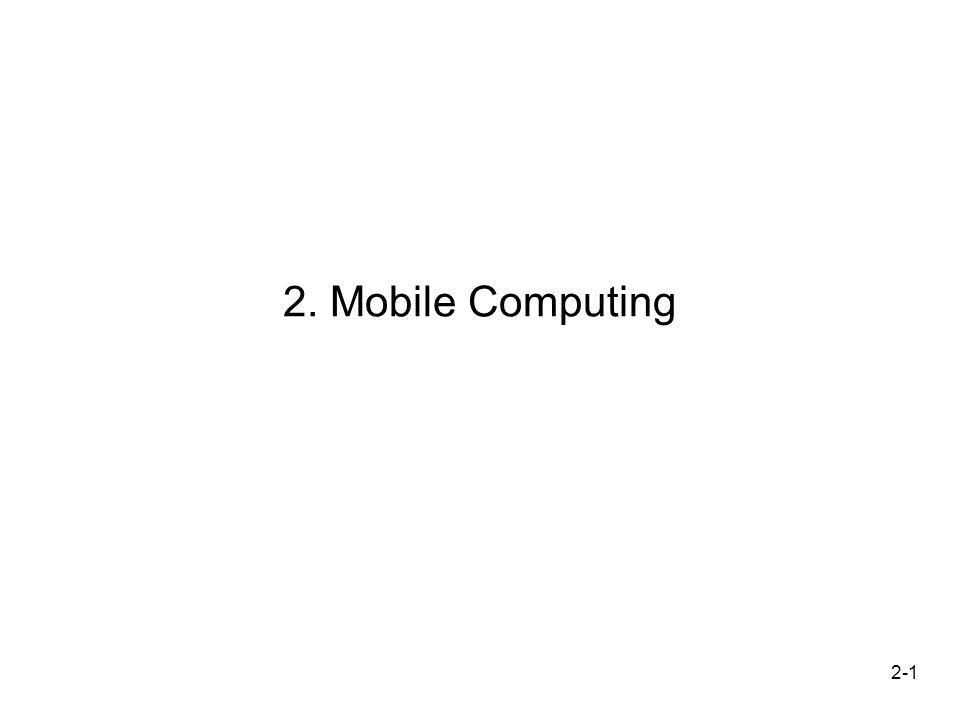 2-2 Motivation Geschichte Mobile Computing –Erfindung und kommerzielle Vermarktung des 1.