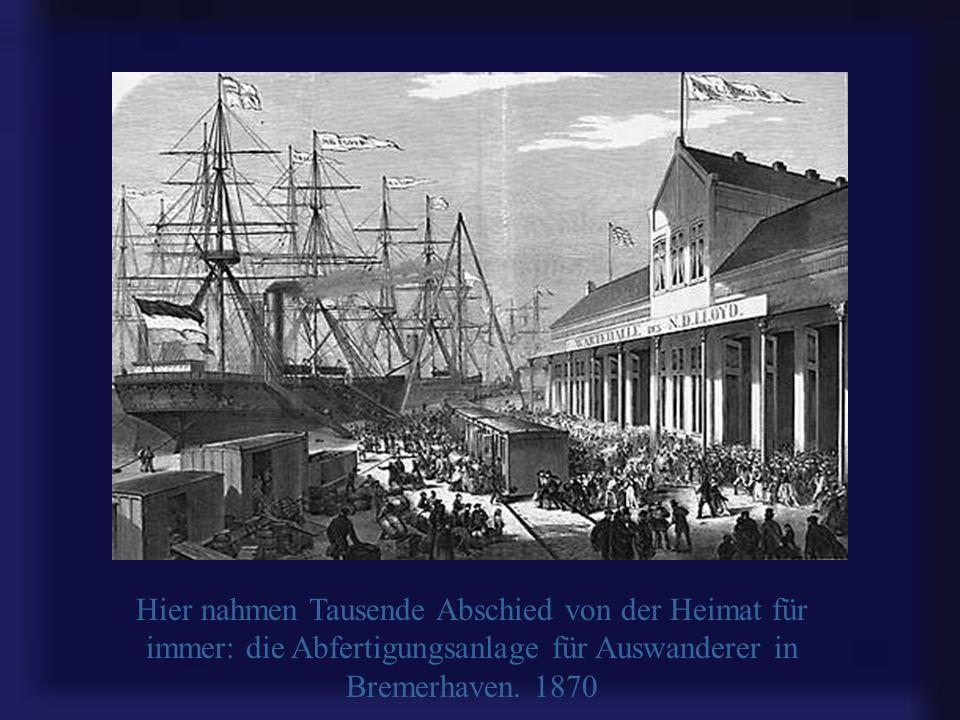 Hier nahmen Tausende Abschied von der Heimat für immer: die Abfertigungsanlage für Auswanderer in Bremerhaven.