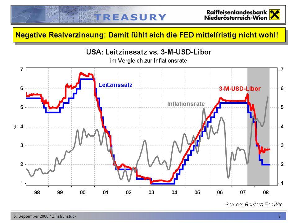 5.September 2008 / Zinsfrühstück 10 Eurozone: Wirtschaft schrumpft im 2.