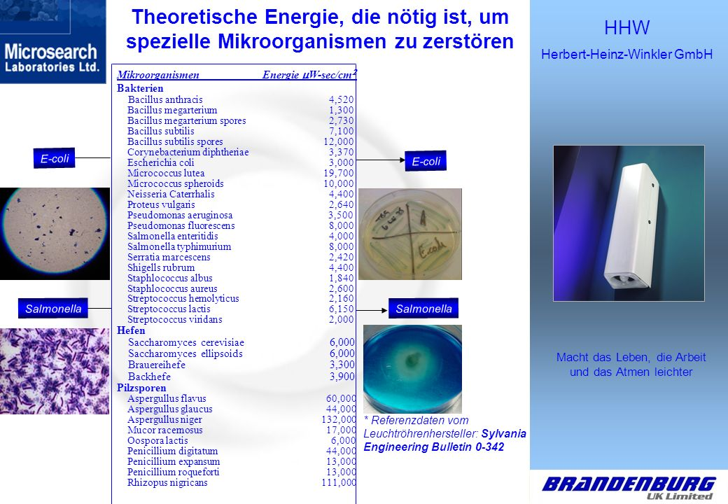 HHW Herbert-Heinz-Winkler GmbH Macht das Leben, die Arbeit und das Atmen leichter Brandenburg UK Ltd.