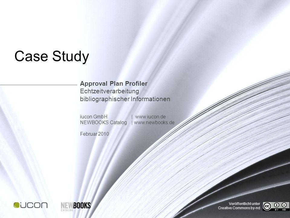 Case Study | Approval Plan Profiler Abstract Bibliothekare müssen anzuschaffende Buchtitel nicht mehr einzeln aus Katalogen zusammensuchen, sondern können auf automatisierte Anschaffungsvorschläge zurückgreifen.