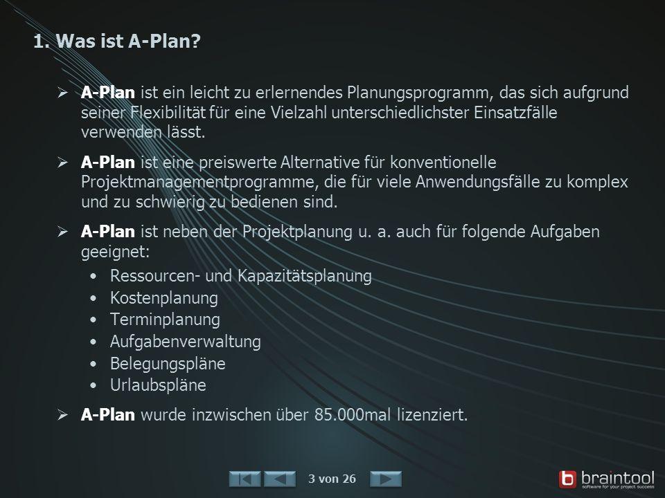 2. Einsatzgebiete Projektplanung 4 von 26