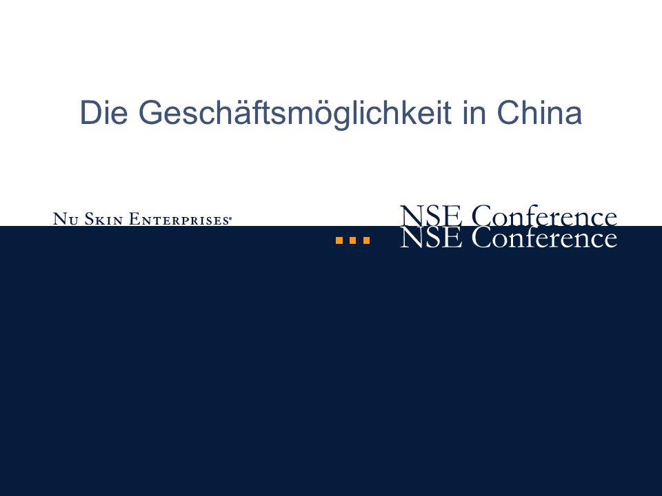 NSE Conference Sie können an der Geschäftsmöglichkeit in China teilnehmen, wenn Sie...