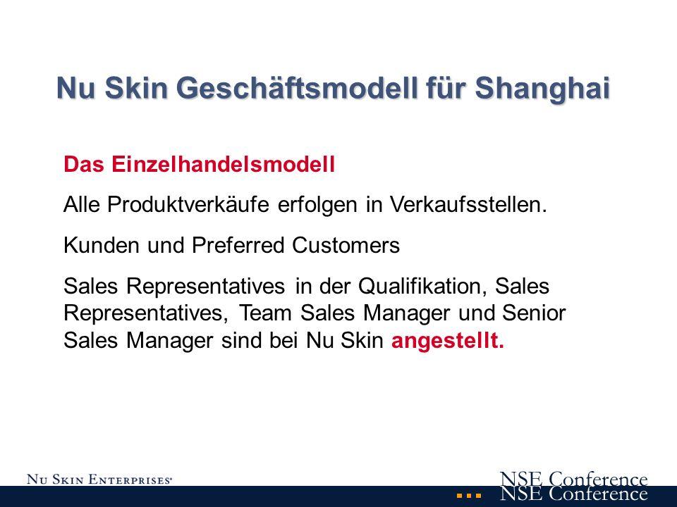 NSE Conference Kunde Preferred Customer Sales Representative in der Qualifikation Sales Representative Team Sales Manager Senior Sales Manager