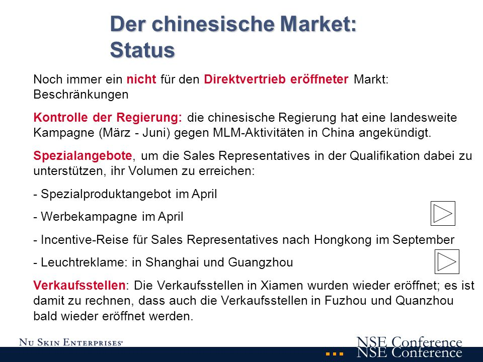 NSE Conference Datum : 21.