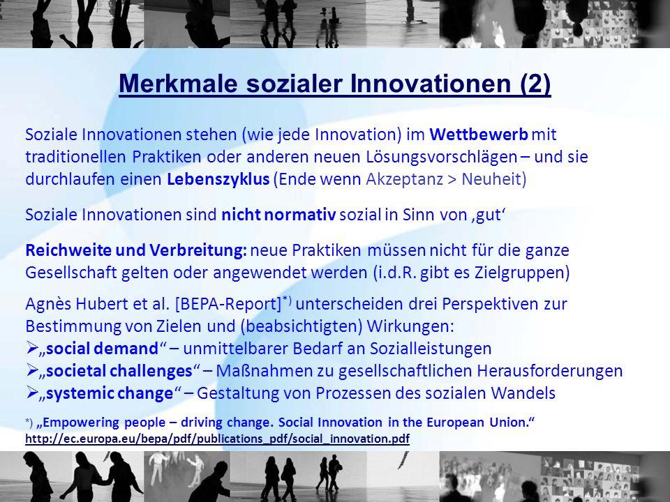 Soziale Innovation im erweiterten Innovationsparadigma 1) Oslo Manual, OECD/EUROSTAT 2005, re.