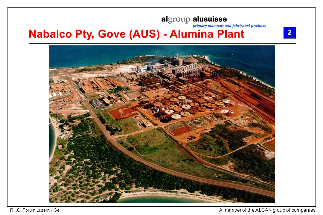 A member of the ALCAN group of companies R.I.O.
