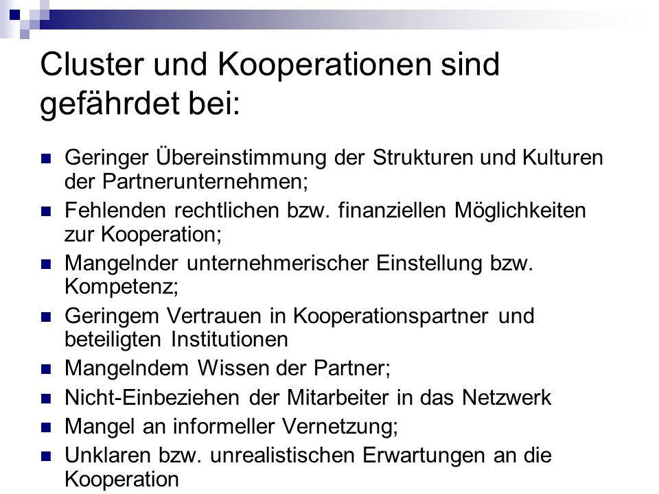 NRW cluster strategy Structural framework for the cluster policy in NRW (cross-departmental) Support through the respective functionally responsible departments of the state government.