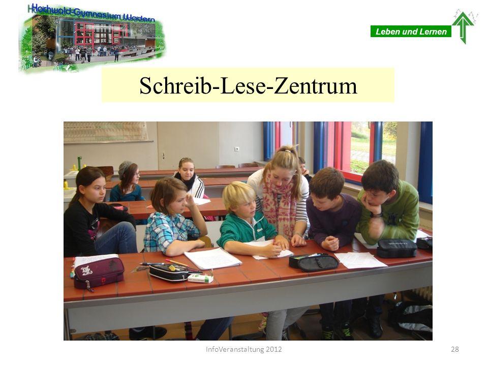 Leben und Lernen Schüler-Schreibberatung ist individuelle Förderung im Fach Deutsch durch ausgebildete Schüler -Schreibberater/innen ist Hilfe zur Selbsthilfe ist kostenlos für alle Schüler/innen 29InfoVeranstaltung 2012