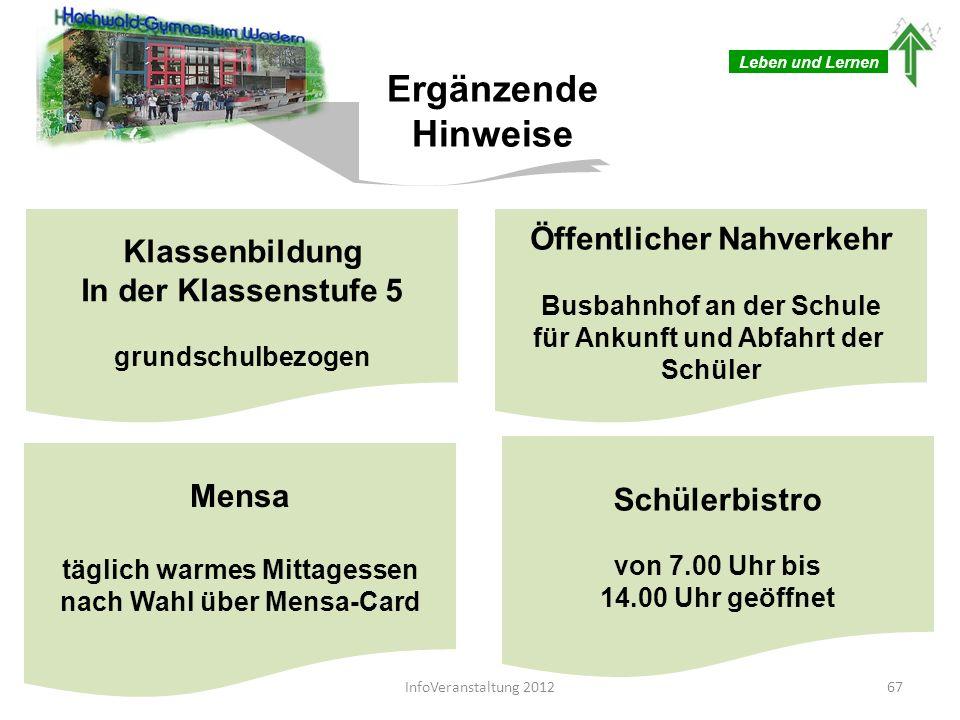 Gesamtareal mit Nebengebäude, Sportplatz und Hauptgebäude Leben und Lernen 68InfoVeranstaltung 2012