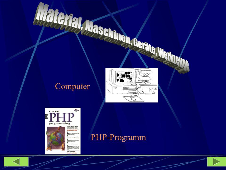 Computer PHP-Programm