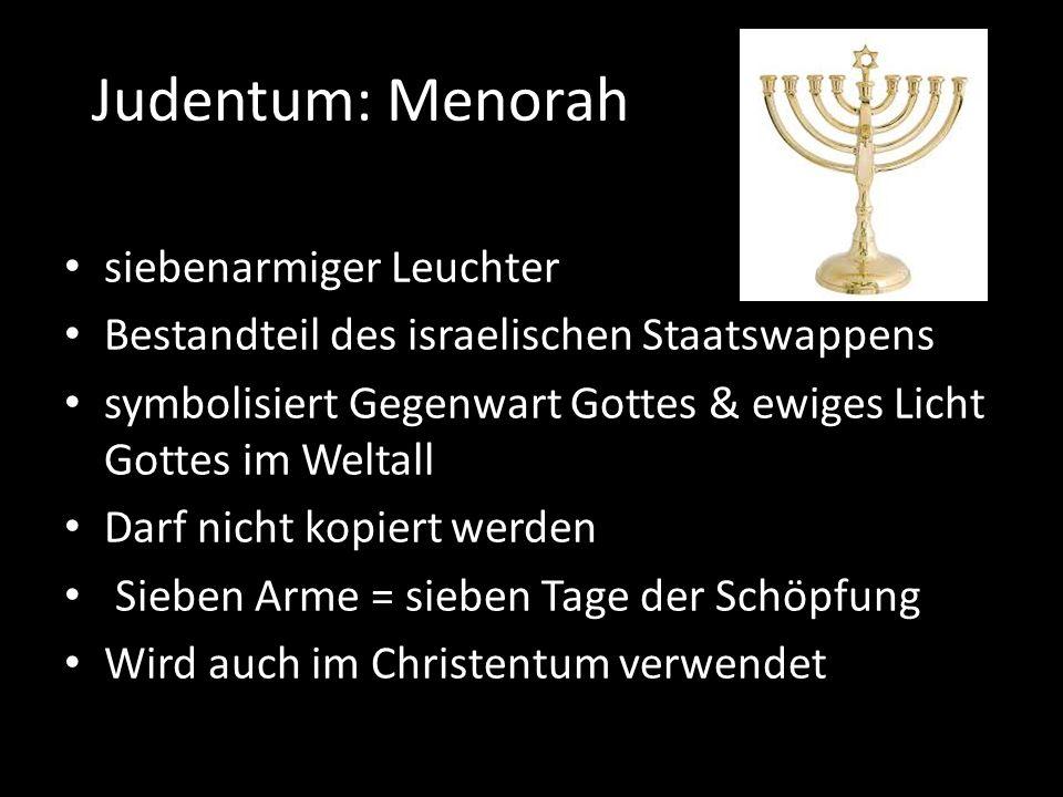 Judentum: Mezuza Kästchen wird an Eingangstüren aufgehängt Enthält eine Pergamentrolle mit heiligen Worten magisches Schutzsymbol Sinnbild für den Bund zwischen dem Gläubigen und Gott Christliche Haussegnung