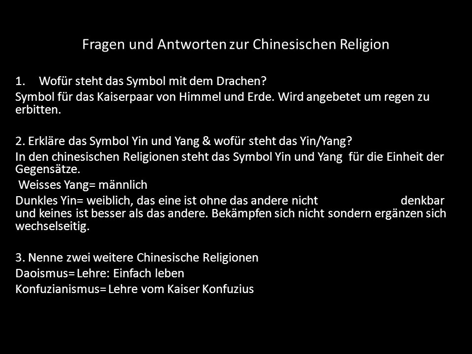 Fragen und Antworten zu den monotheistischen Religionen 1.