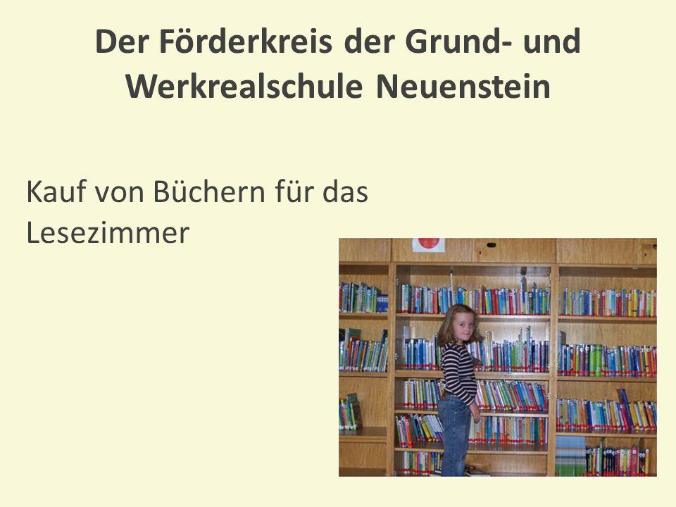 Der Förderkreis der Grund- und Werkrealschule Neuenstein Anschaffung bequemer Sitzkissen