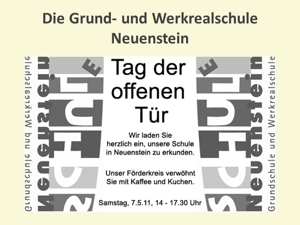 Um die Arbeit der Schule ideell und finanziell zu unterstützen, hat sich im Sommer 1998 der Förderkreis gebildet Der Förderkreis der Grund- und Werkrealschule Neuenstein