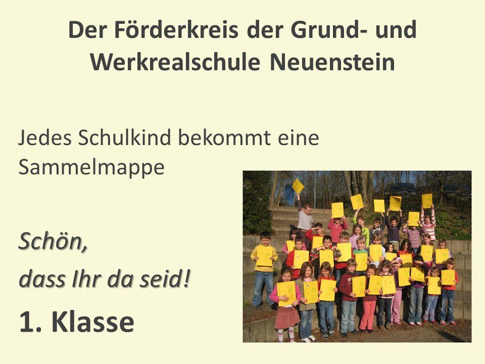 Der Förderkreis der Grund- und Werkrealschule Neuenstein Wir ermöglichen Autorenlesungen Es war einmal....
