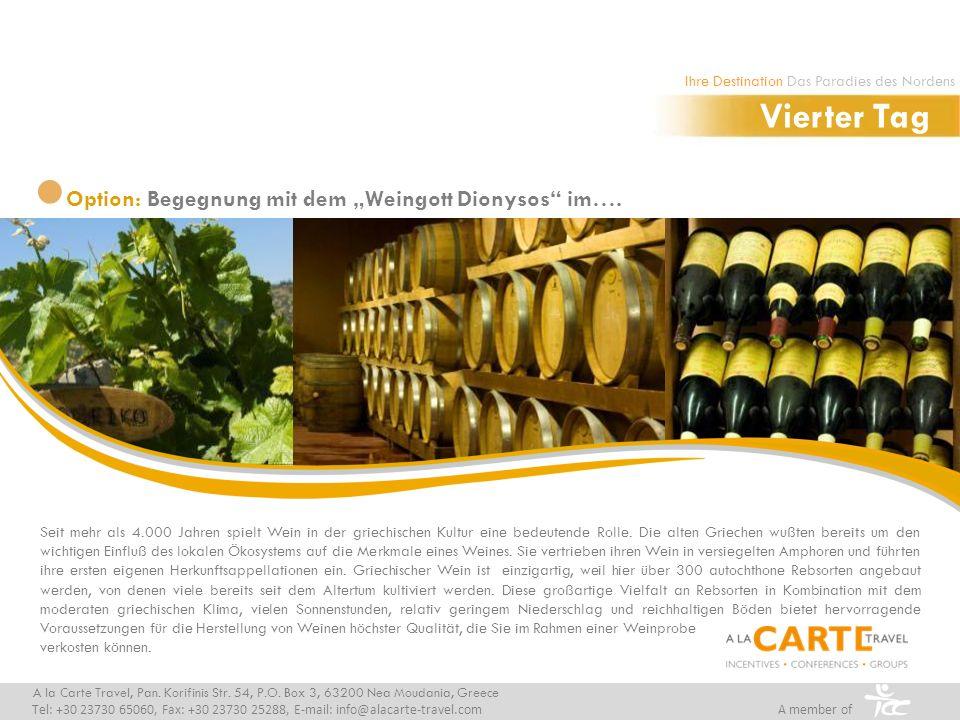 Weinprobe auf dem Weingut Gerovassiliou, wo neben griechischen auch internationale Rebsorten angebaut werden.