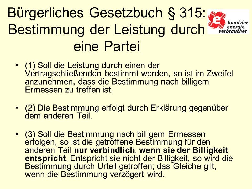 BGH-Richterin schreibt § 315 BGB ist auf Strom- und Gastarife direkt anwendbar.