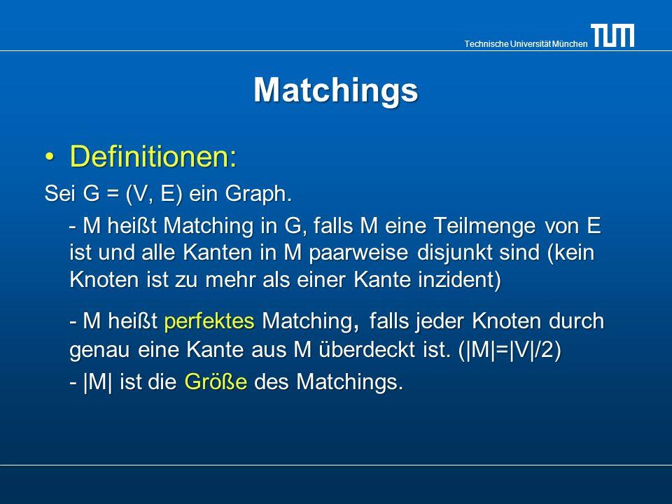 Technische Universität München Das Heiratsproblem Gegeben seien heiratswillige Damen und Herren.