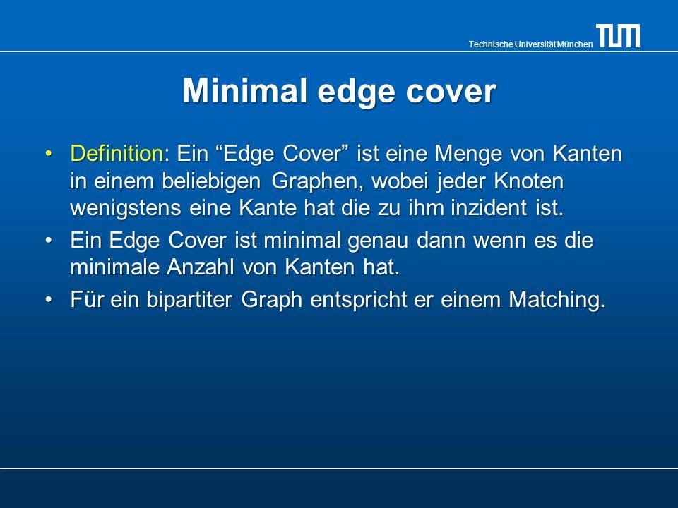 Technische Universität München Maximum independent Set Definition: Ein Independent Set ist eine Menge von Knoten in einem Graph, wo keine zwei Knoten durch eine Kante verbunden sind.Definition: Ein Independent Set ist eine Menge von Knoten in einem Graph, wo keine zwei Knoten durch eine Kante verbunden sind.